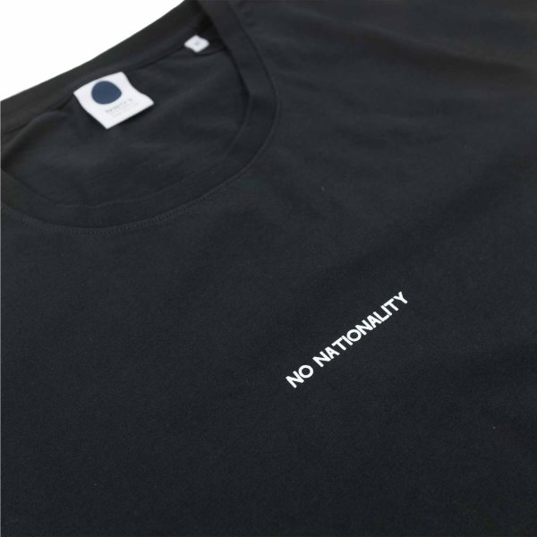 NN07 Ethan Print Tee 3208 - Black