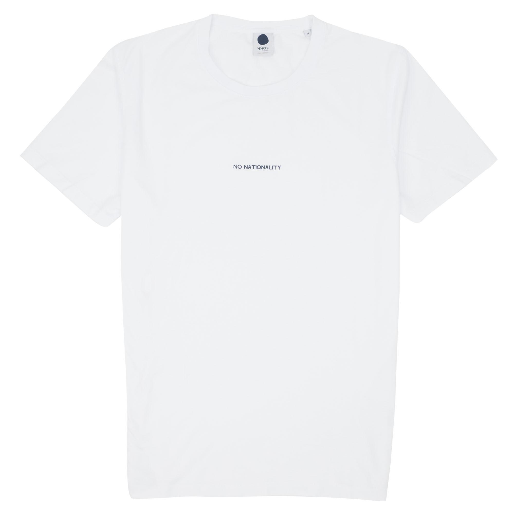 NN07 Ethan Print Tee 3208 - White