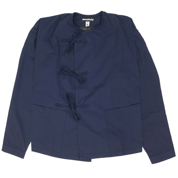 Monitaly Cropped Field Shell Jacket - Vancloth Oxford Navy