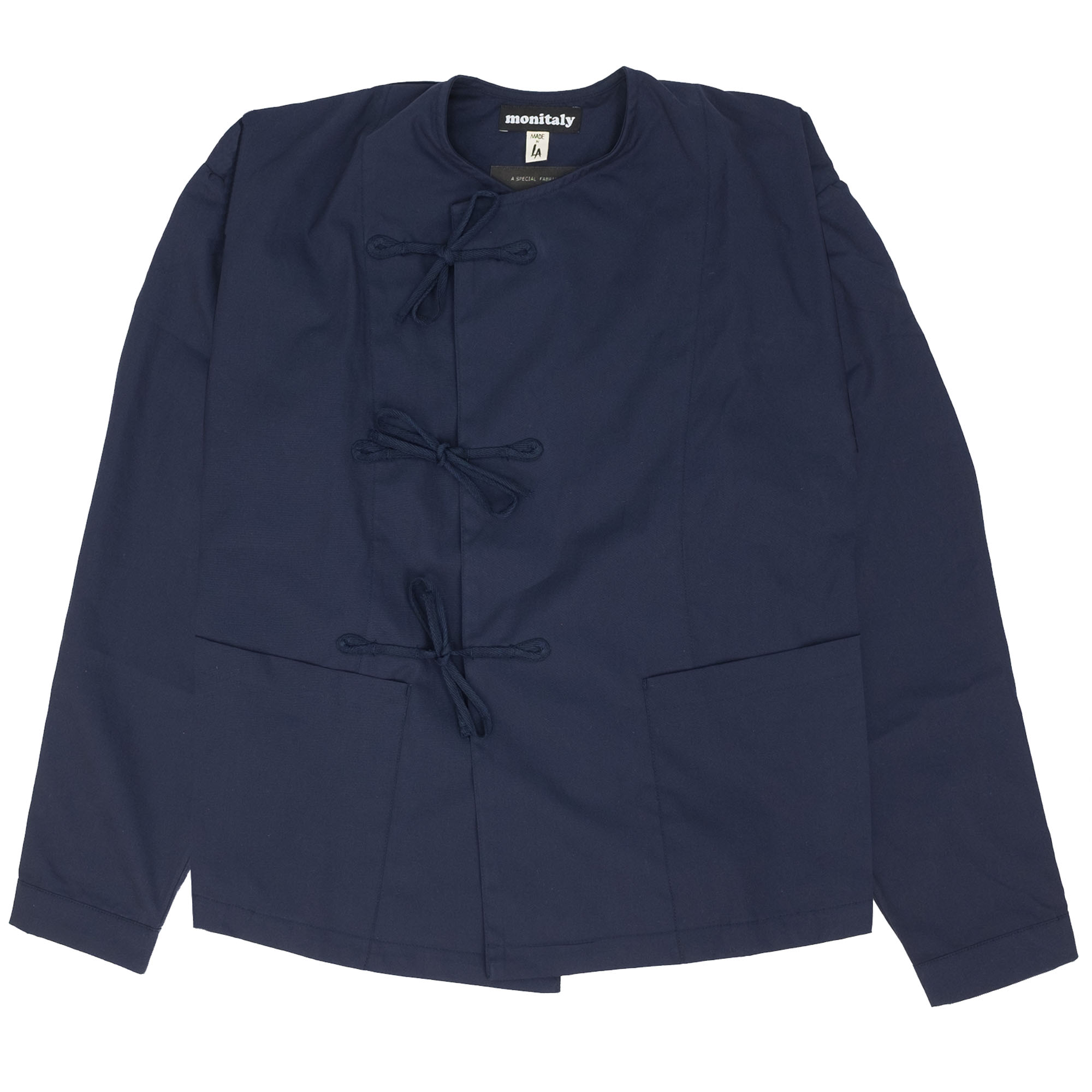 Cropped Field Shell Jacket Vancloth Oxford Navy 1
