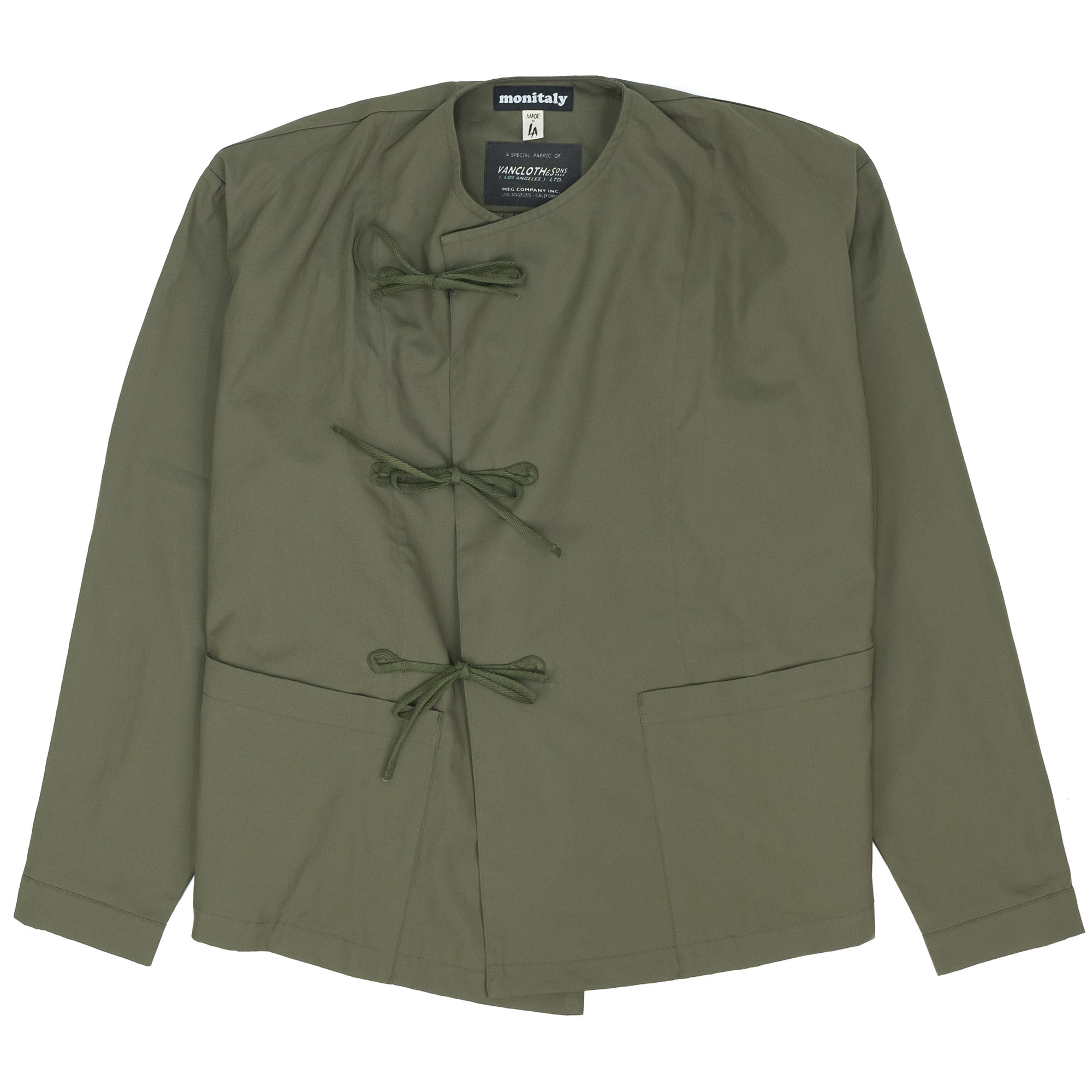 Cropped Field Shell Jacket Vancloth Oxford Olive 1