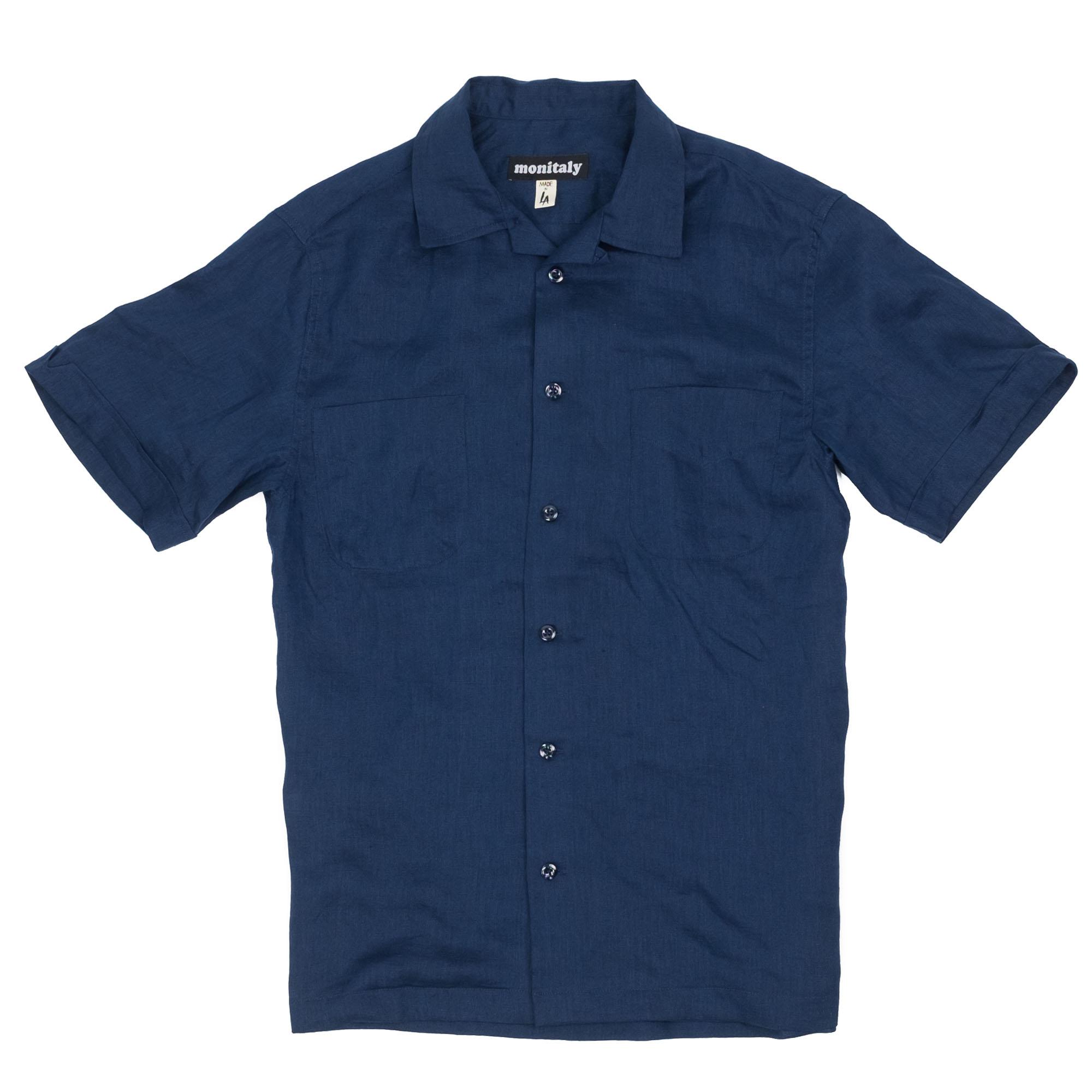 Vacation Shirt Linen Navy 1