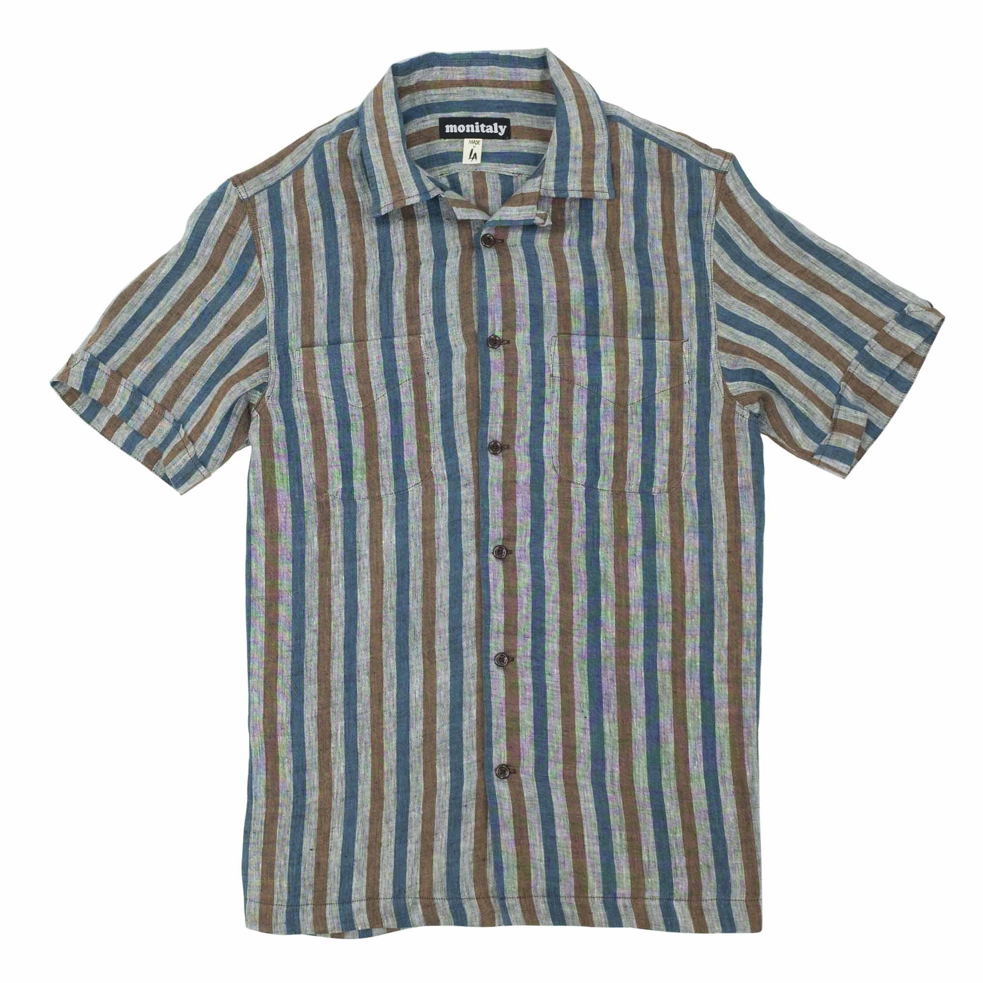 Vacation Shirt Linen Stripe 1