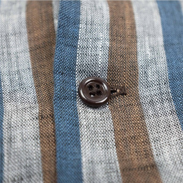 Monitaly Vacation Shirt - Lt Linen Stripe