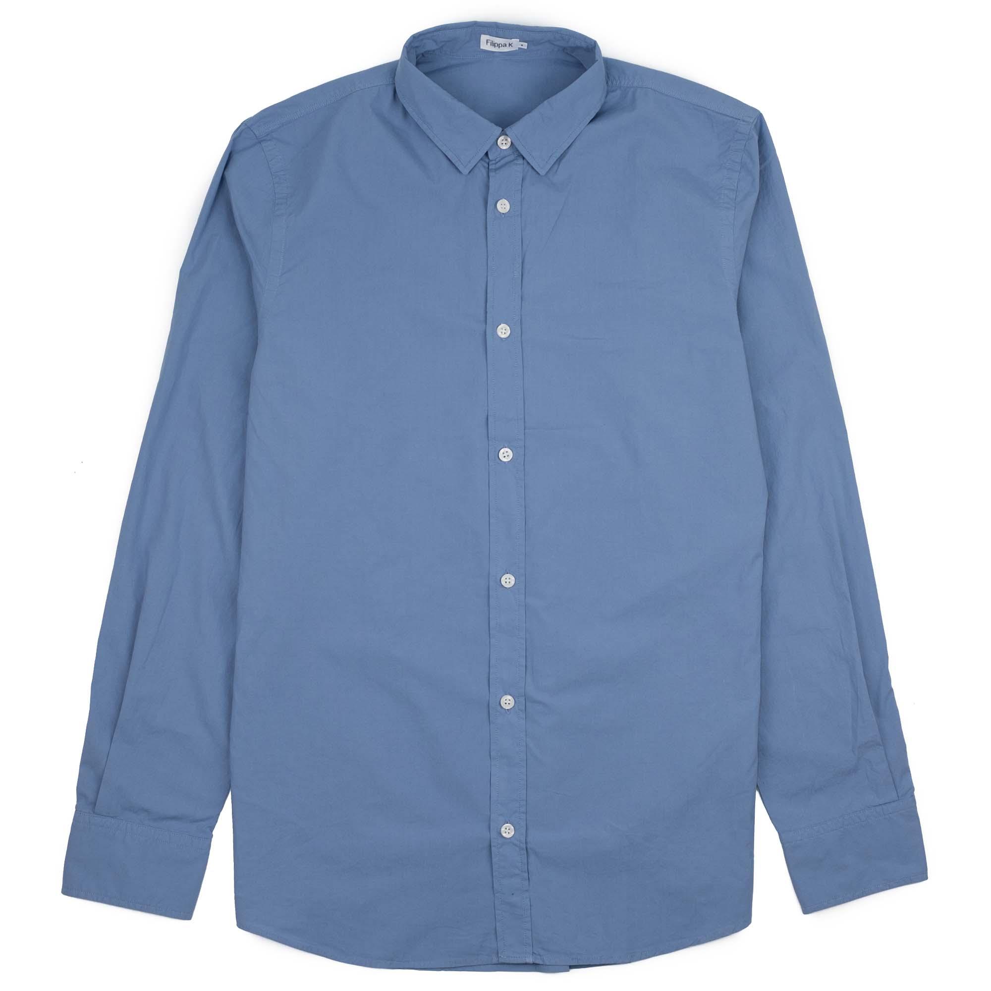 Ben Washed Poplin Shirt Paris Blue 1