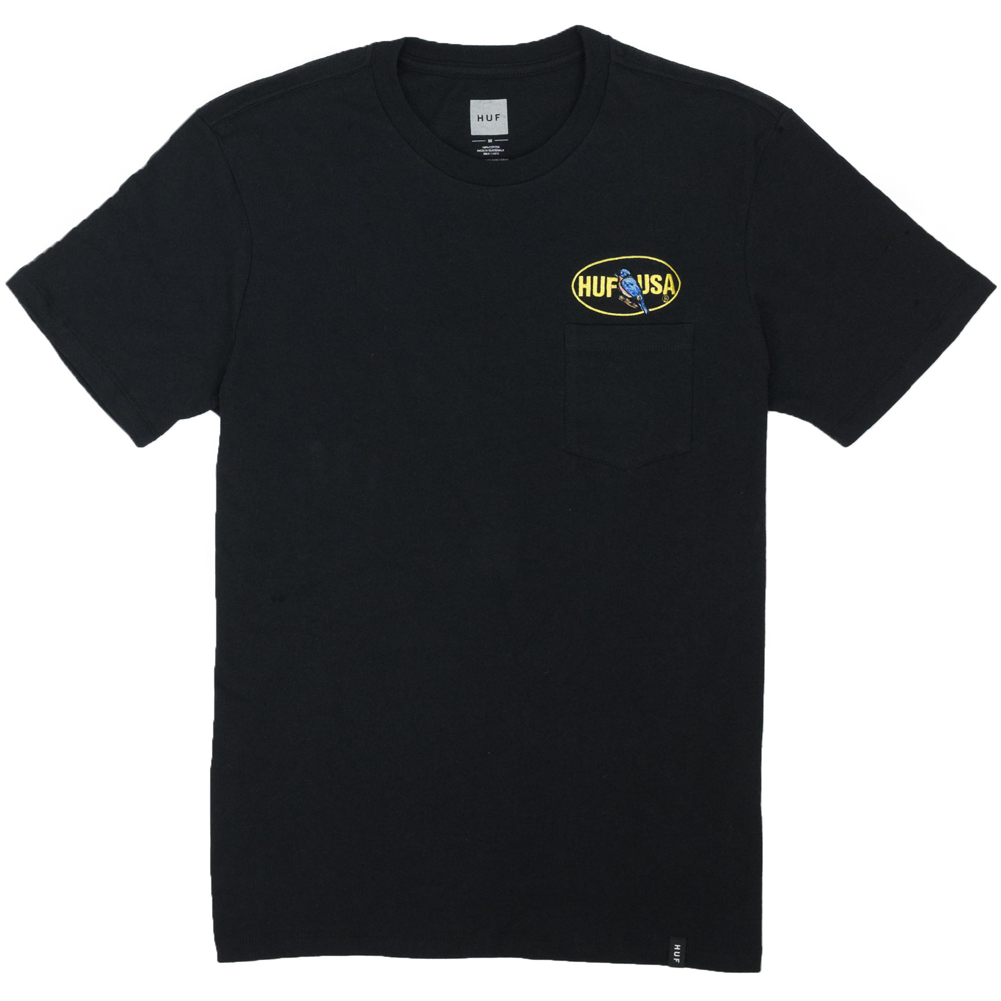 HUF Birdwatch Pocket Tee - Black