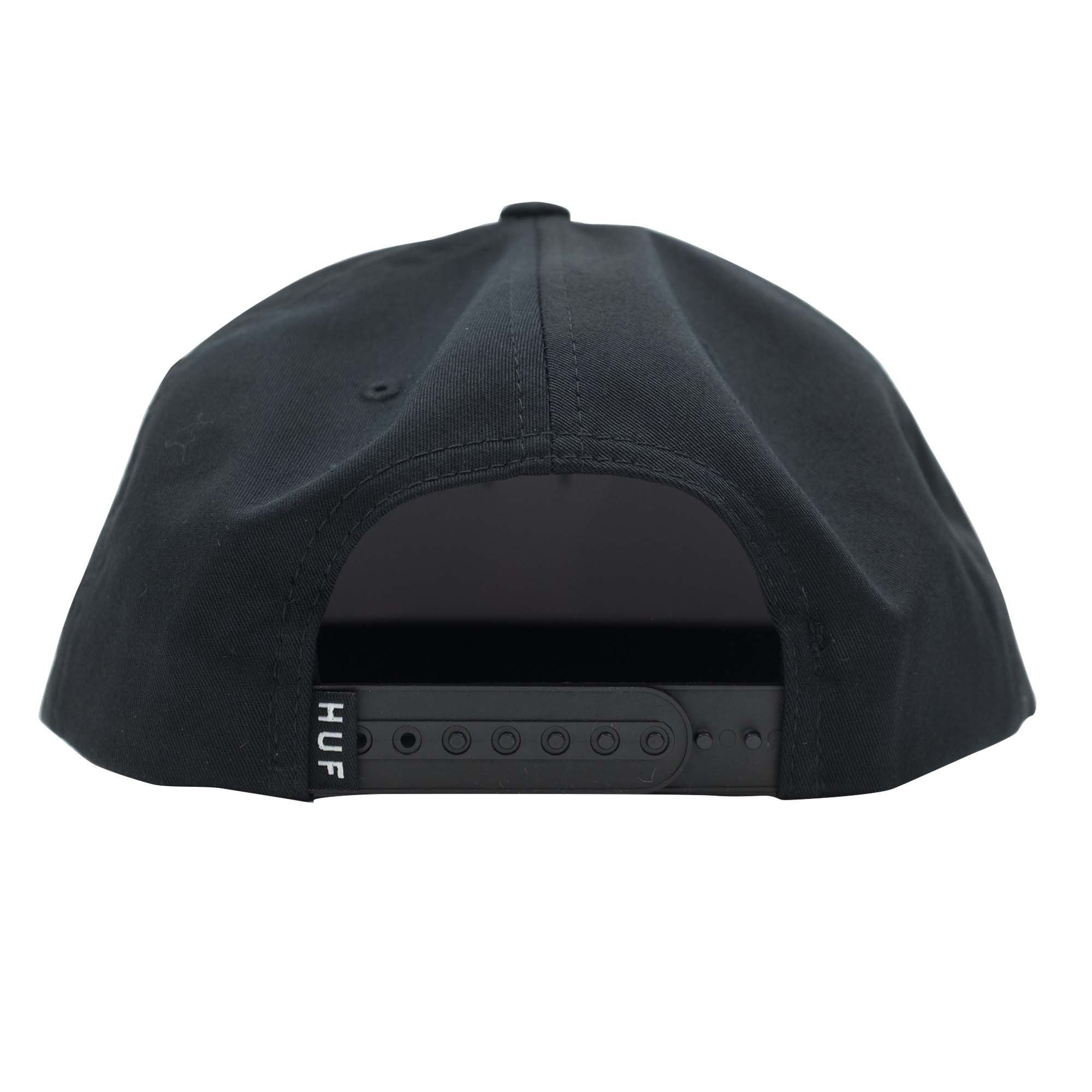 HUF Essentials Box Snapback Hat - Black
