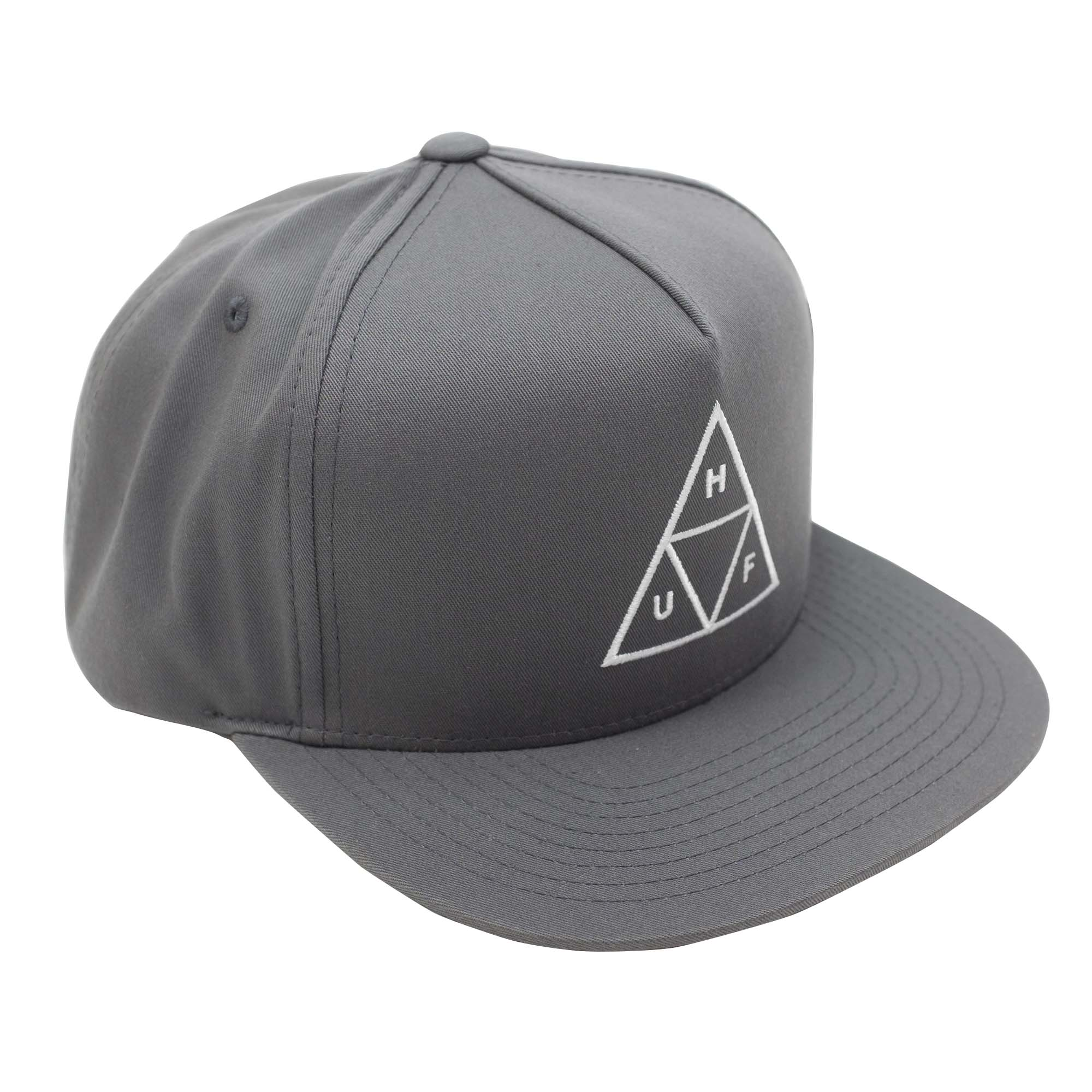 HUF Essentials Tt Snapback Hat - Charcoal