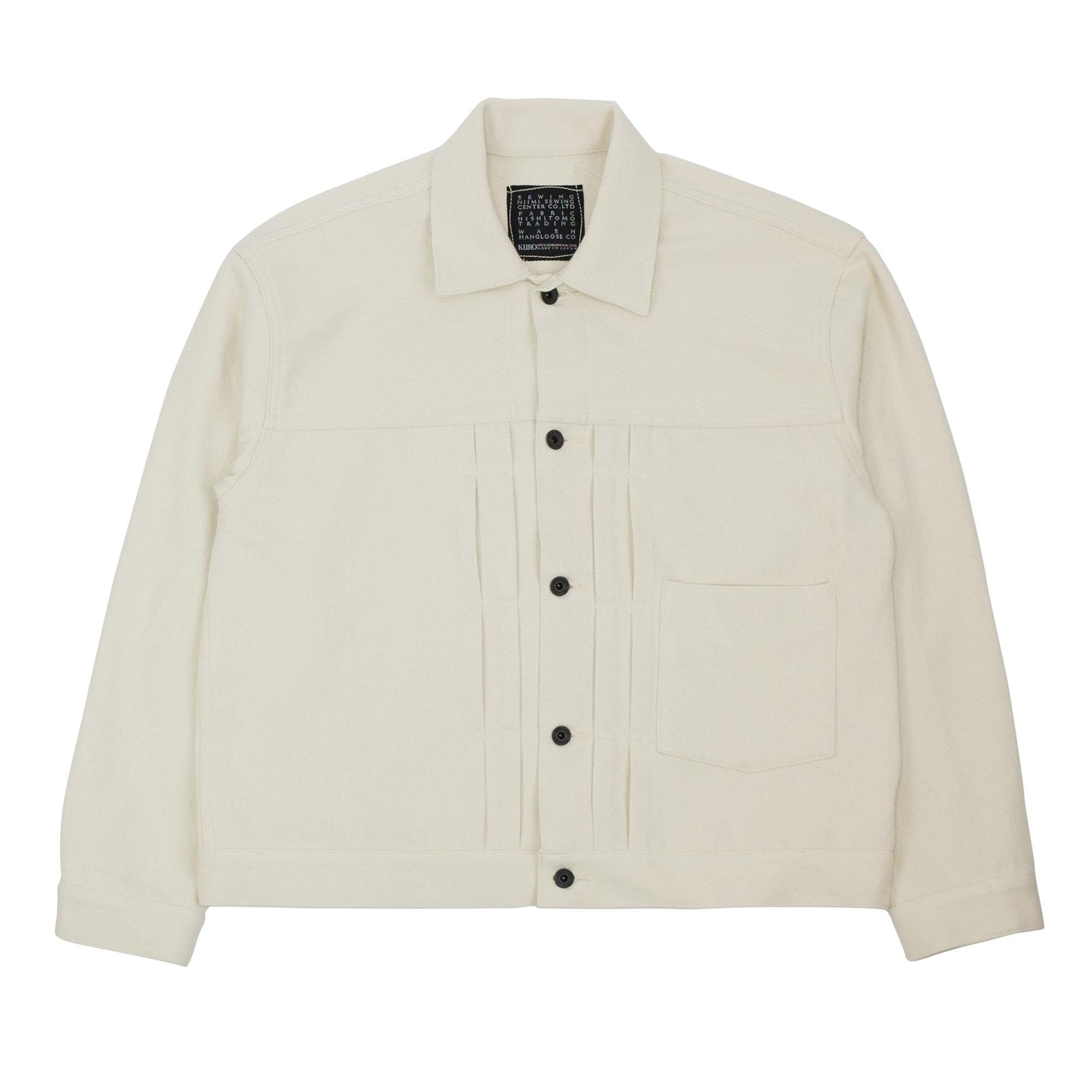 Kuro Loose Denim Big Jacket One Wash - Off White