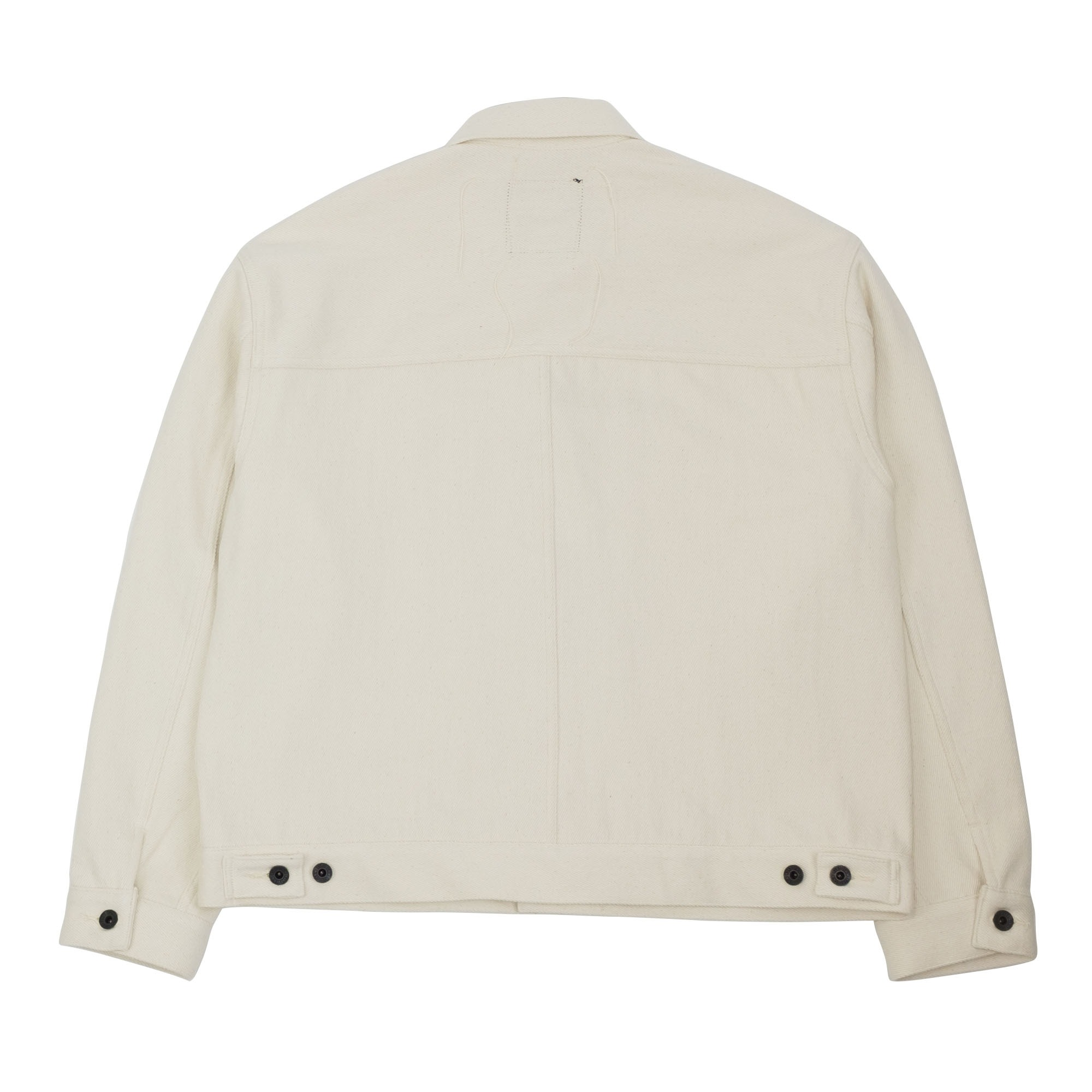 Loose Denim Big Jacket One Wash Off White 12