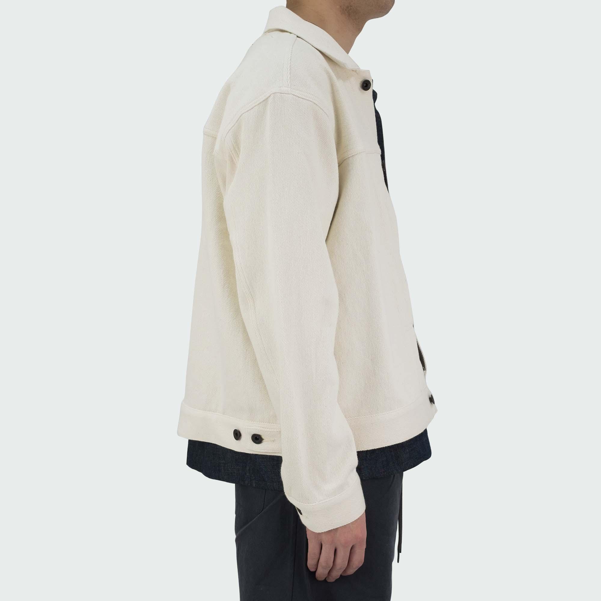 Loose Denim Big Jacket One Wash Off White 3