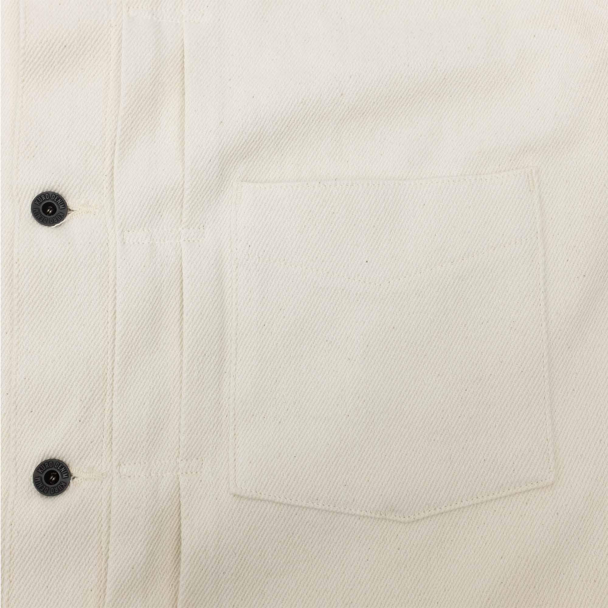 Loose Denim Big Jacket One Wash Off White 8