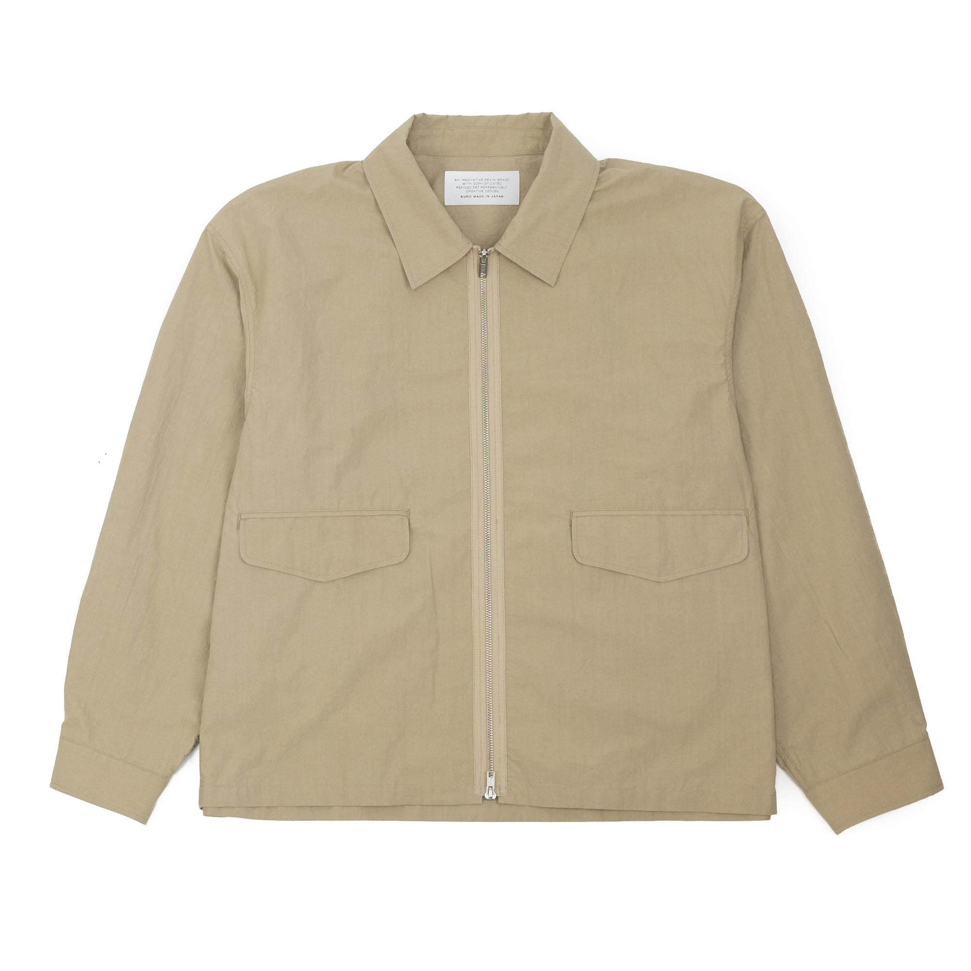 Zip Up Shirt Jacket Beige 1