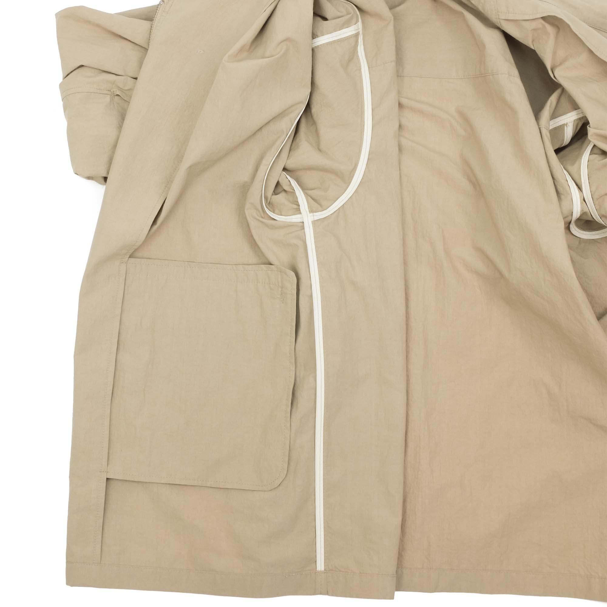Zip Up Shirt Jacket Beige 9