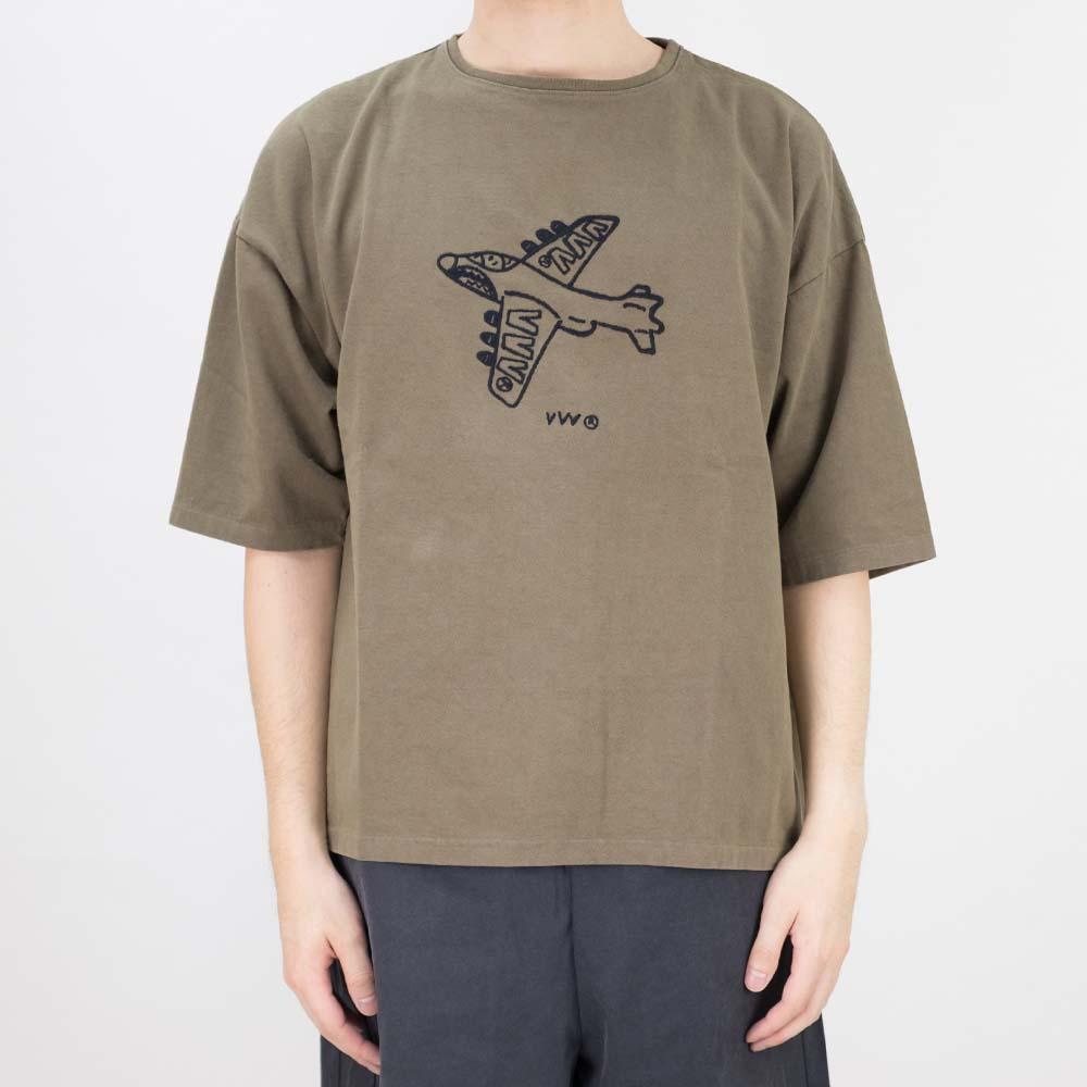 Kuro Dyed Wash Tee (Jet) - Khaki