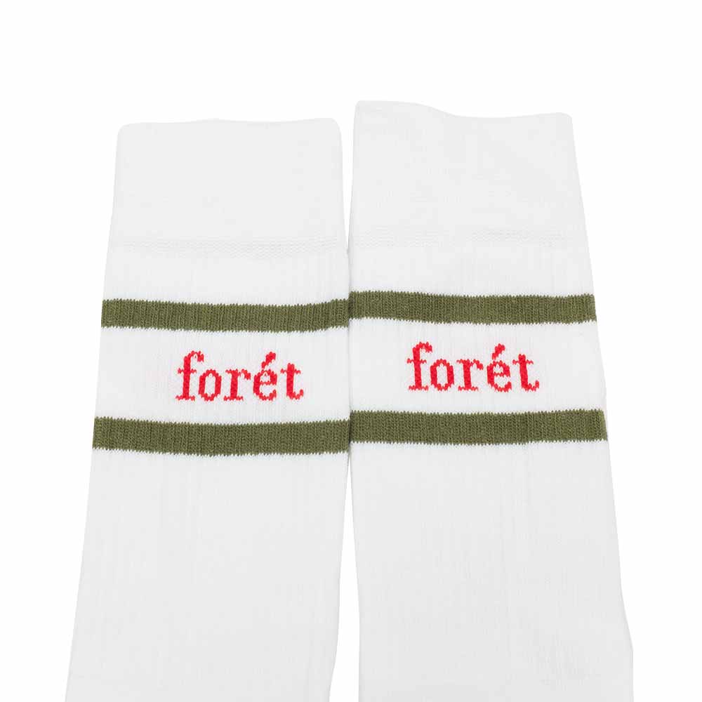 forét Ant Sock - White - Dark Green