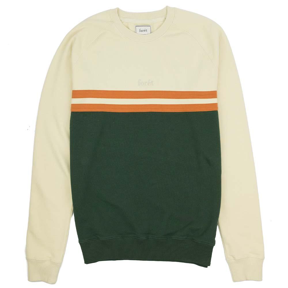 forét Escape Sweatshirt - Cream - Dark Green