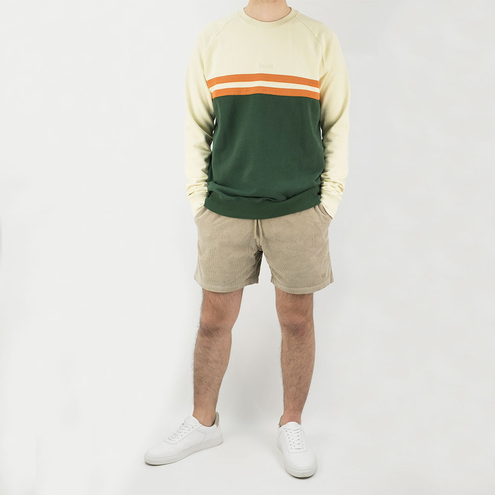 forét Escape Sweatshirt - Cream / Dark Green