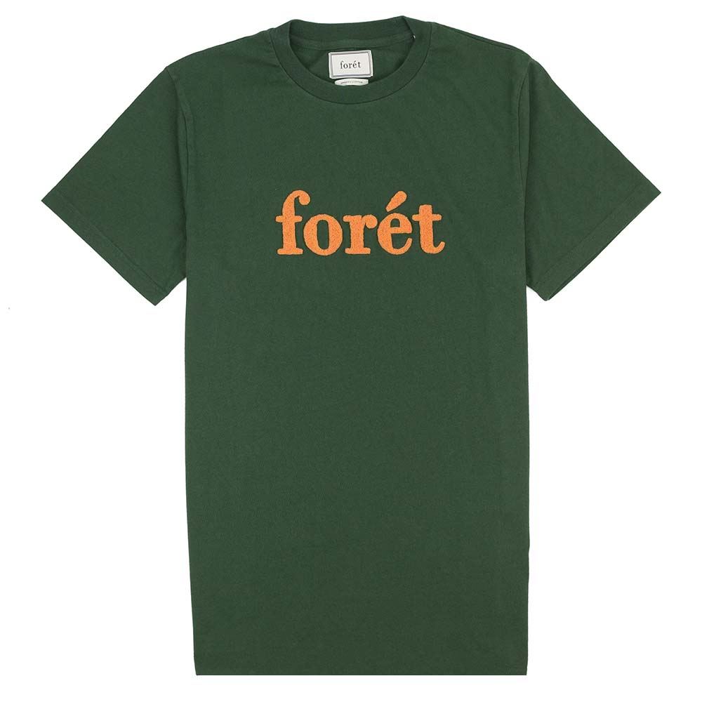 forét Log T Shirt - Dark Green - Copper