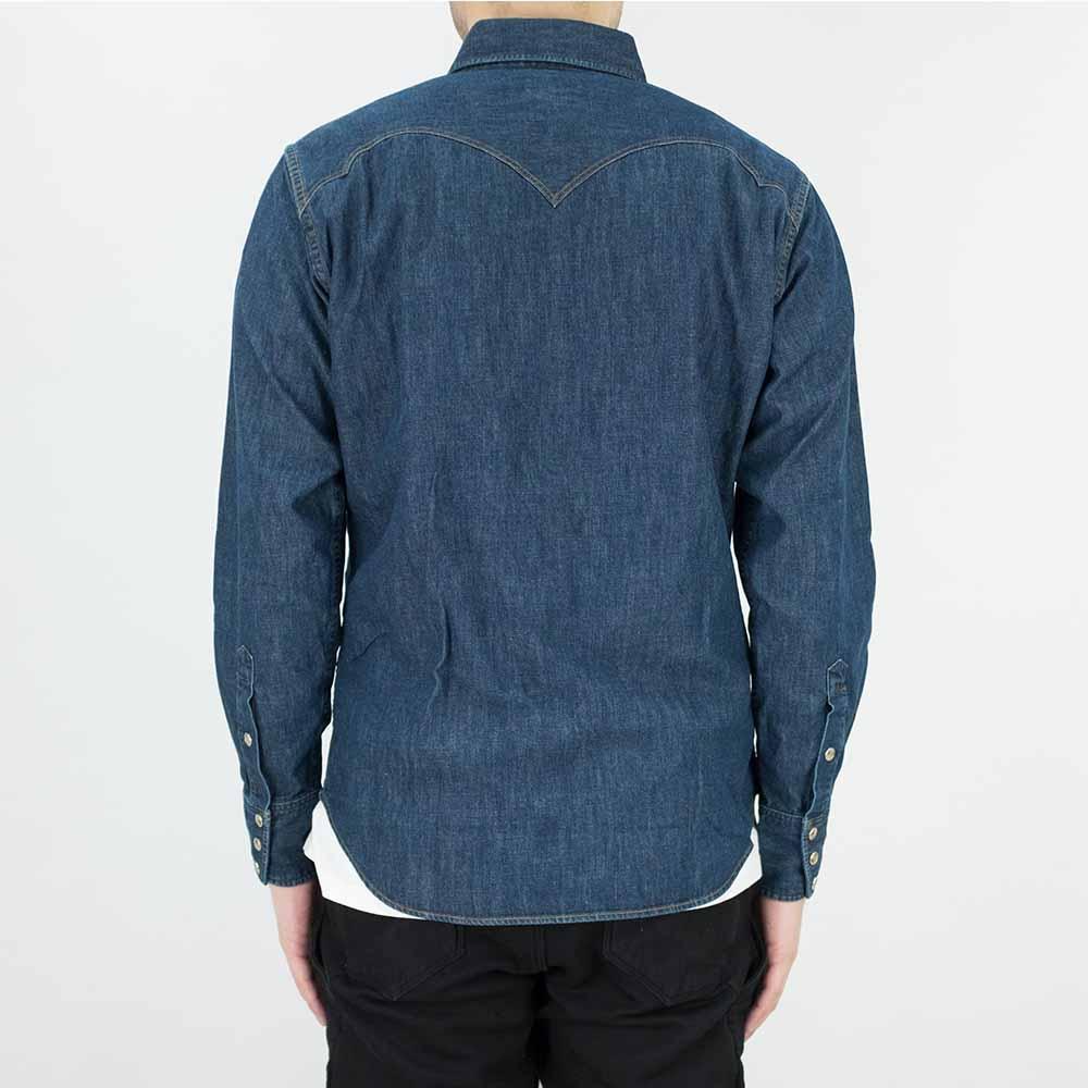 Stevenson Overall Co. Cody Shirt - Faded Indigo 3