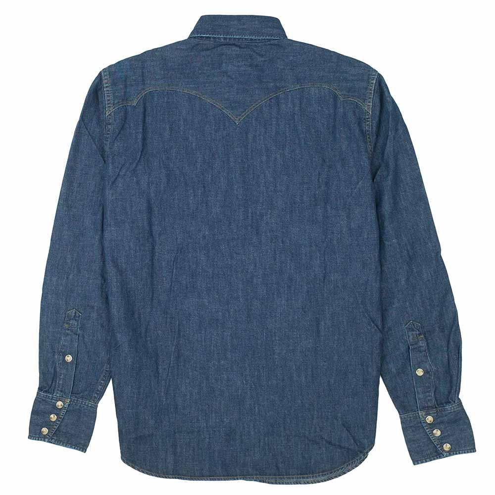 Stevenson Overall Co. Cody Shirt - Faded Indigo 8