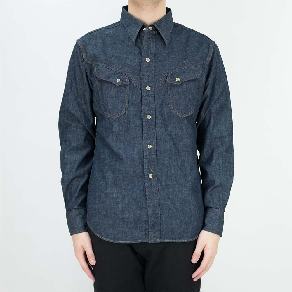Stevenson Overall Co. Trigger Shirt - Indigo 2