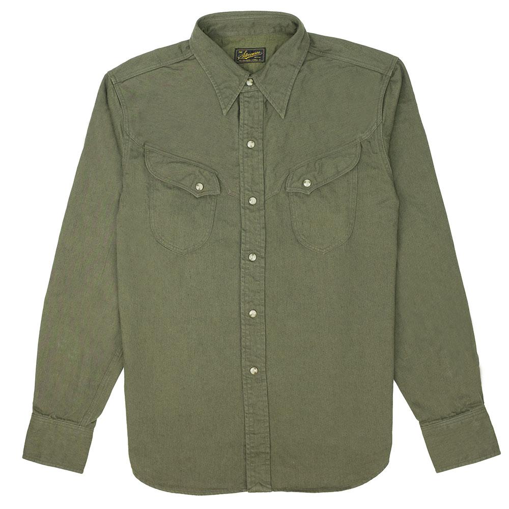 Stevenson Overall Co. Trigger Shirt - Olive 1