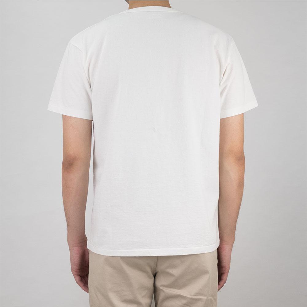 Stevenson Overall Co. Graphic Pocket T-Shirt Rising Sun - White