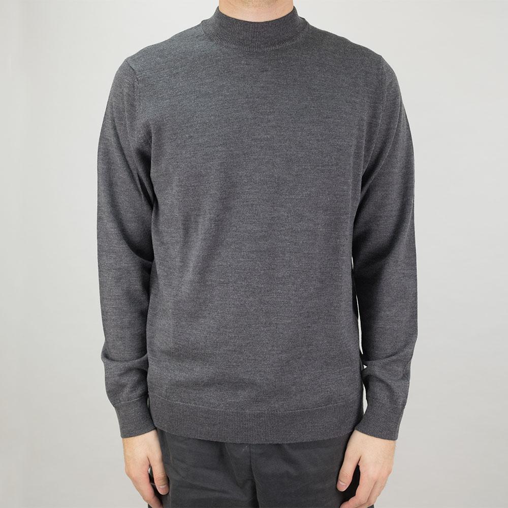 NN07 Martin Merino Sweater - Antracite Grey Mel