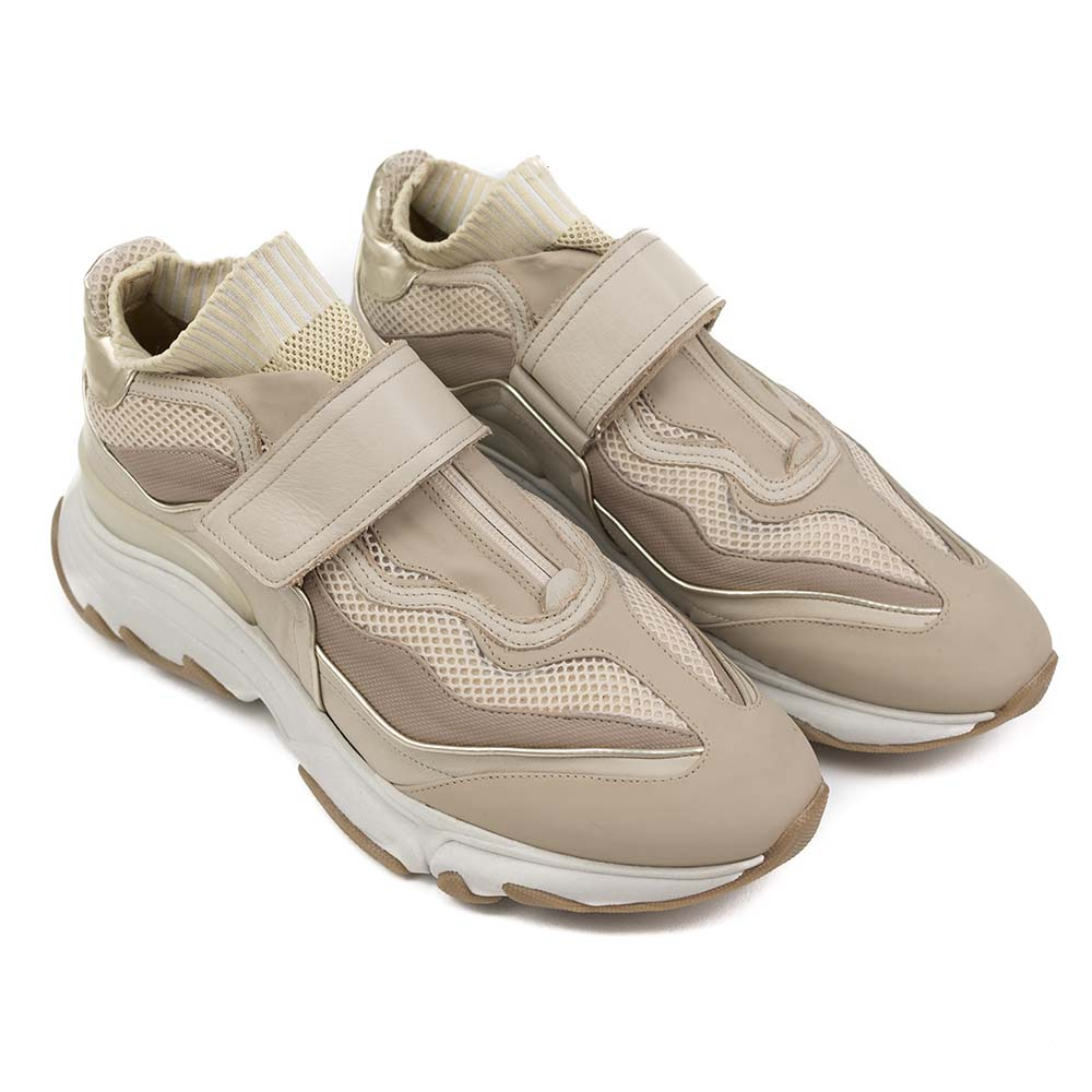 PREGIS Aster Leather Runner Sneaker - Beige
