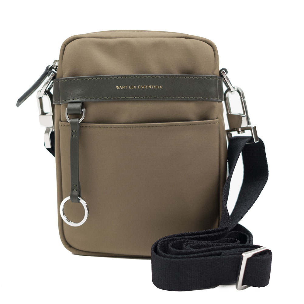WANT Les Essentiels Reagan Crossbody Pouch - Sage Nylon/Silt