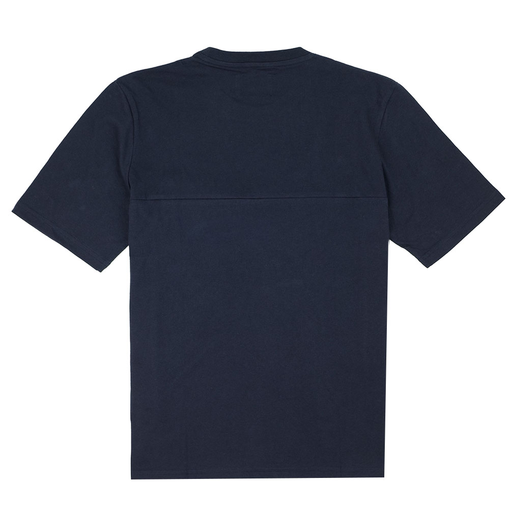 Folk Angle Pocket Tee - Navy