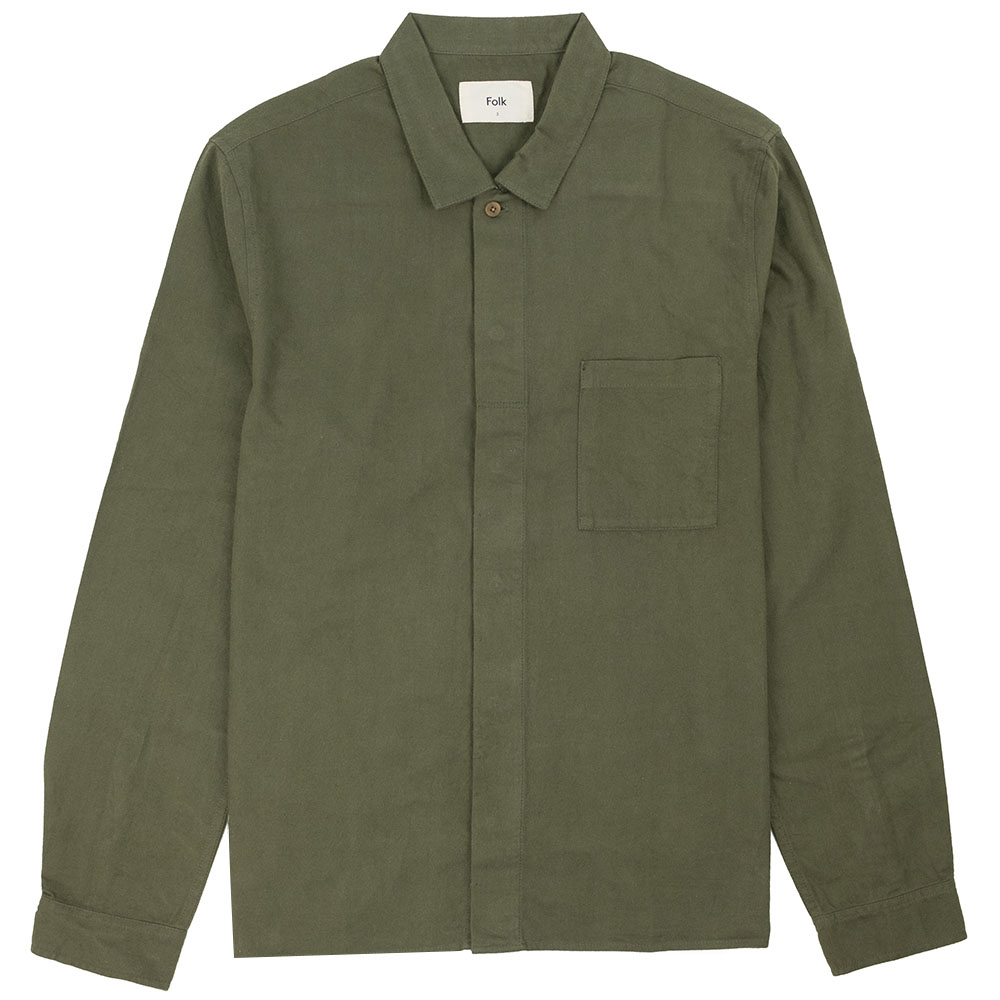 Folk Patch Shirt - Green
