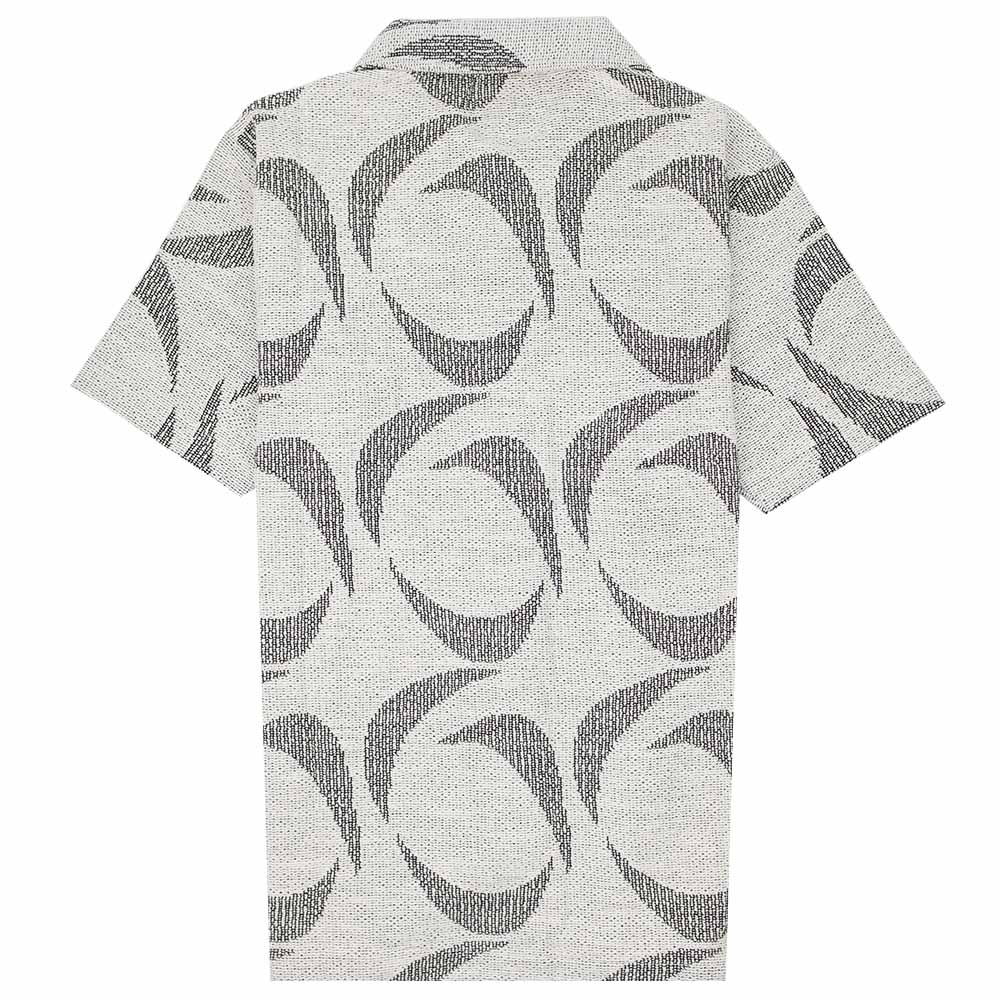 Polar Skate Co. Patterned Polo Shirt - Ivory/Black