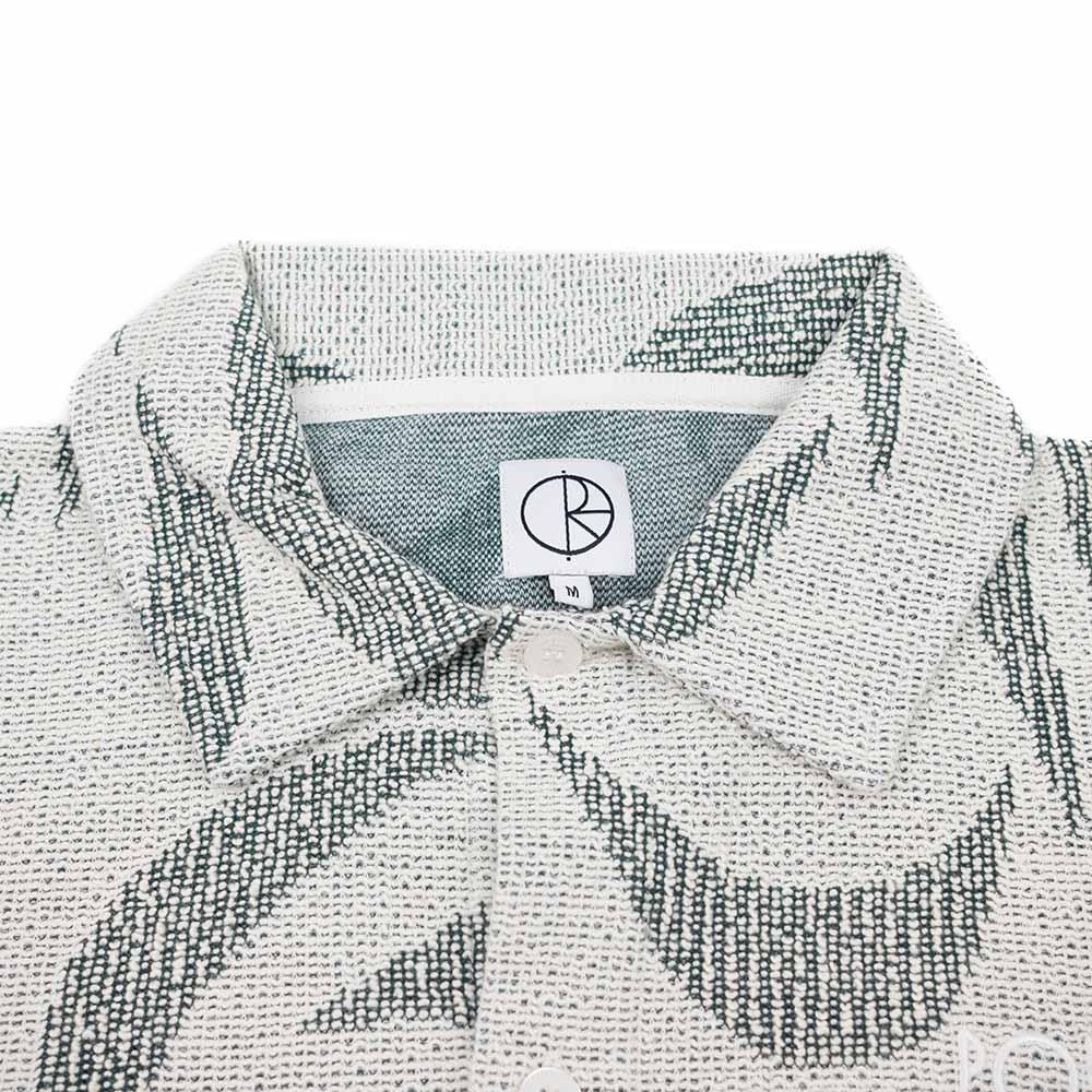Polar Skate Co. Patterned Polo Shirt - Ivory/Dark Green