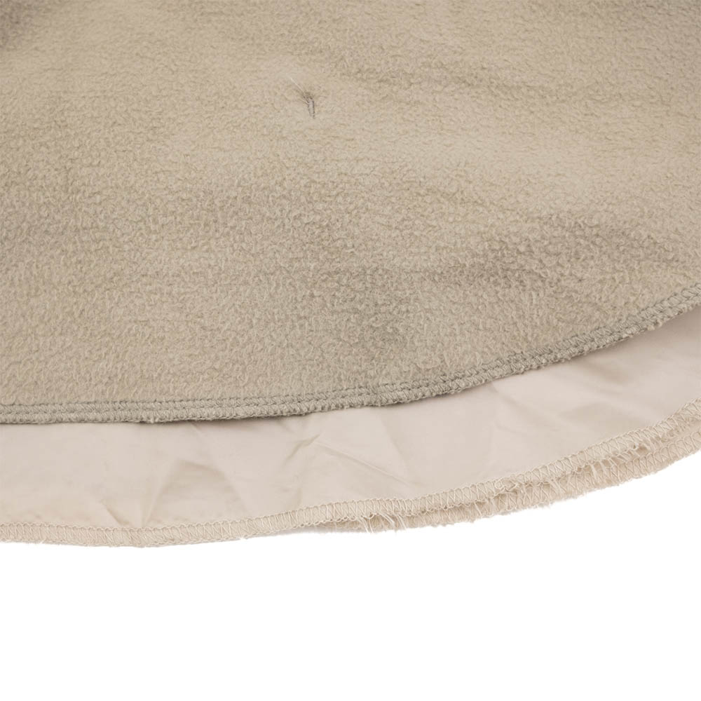 Kuro Cotton Fleece Shirt Coat - Beige