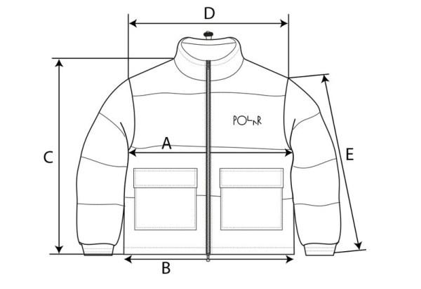 Polar Skate Co. Pocket Puffer size guide