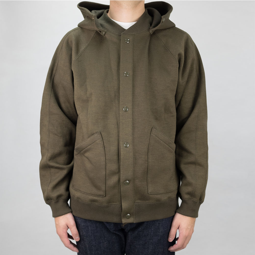 Stevenson Overall Co. Detachable Hooded Athletic Jacket - Olive