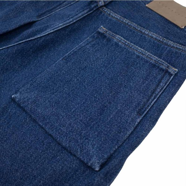 Kuro Loose Denim Two Tuck Wide Trousers - Faded Indigo