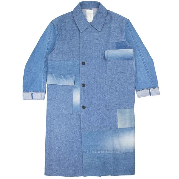 Kuro Remake Denim Trench Coat - Faded Indigo Assort