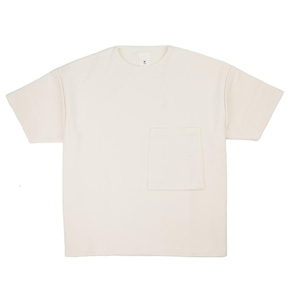Kuro Sleeve Topped Russellish Jersey Tee - Off White