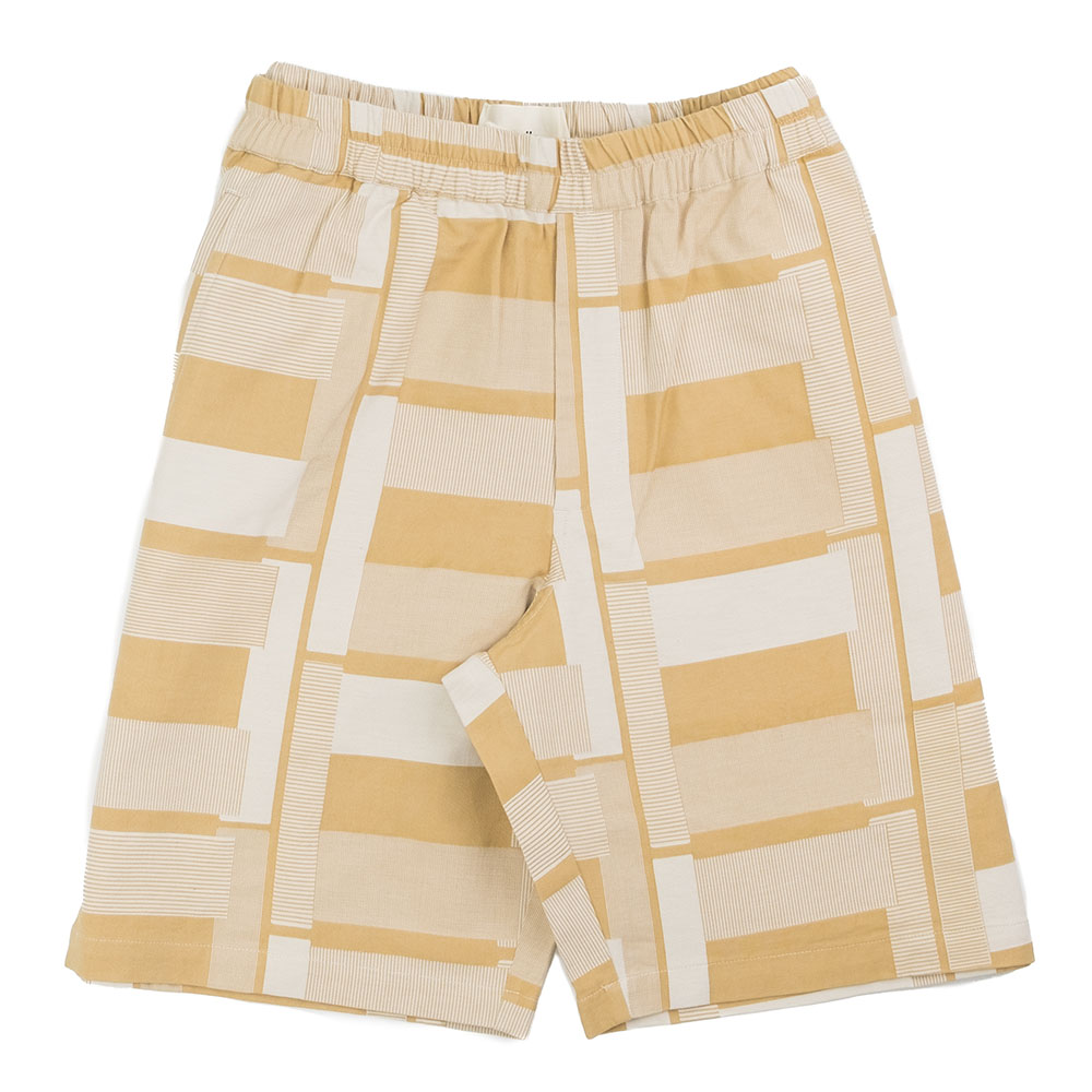 Folk Drawcord Assembly Shorts - Marigold Jacquard