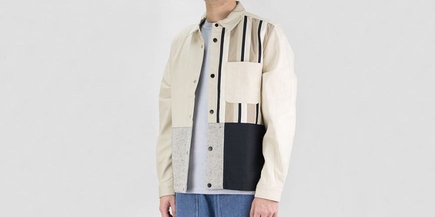 Folk Warp Jacket - Stone Black Patchwork blog