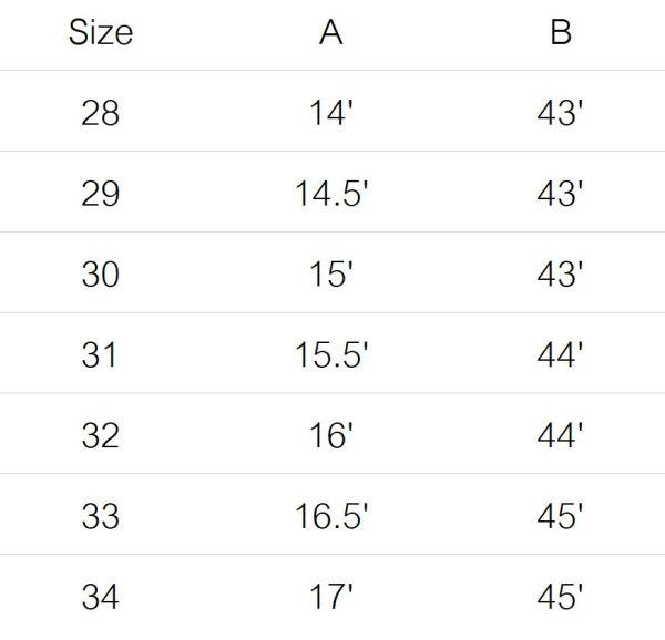 stevenson jeans size guide