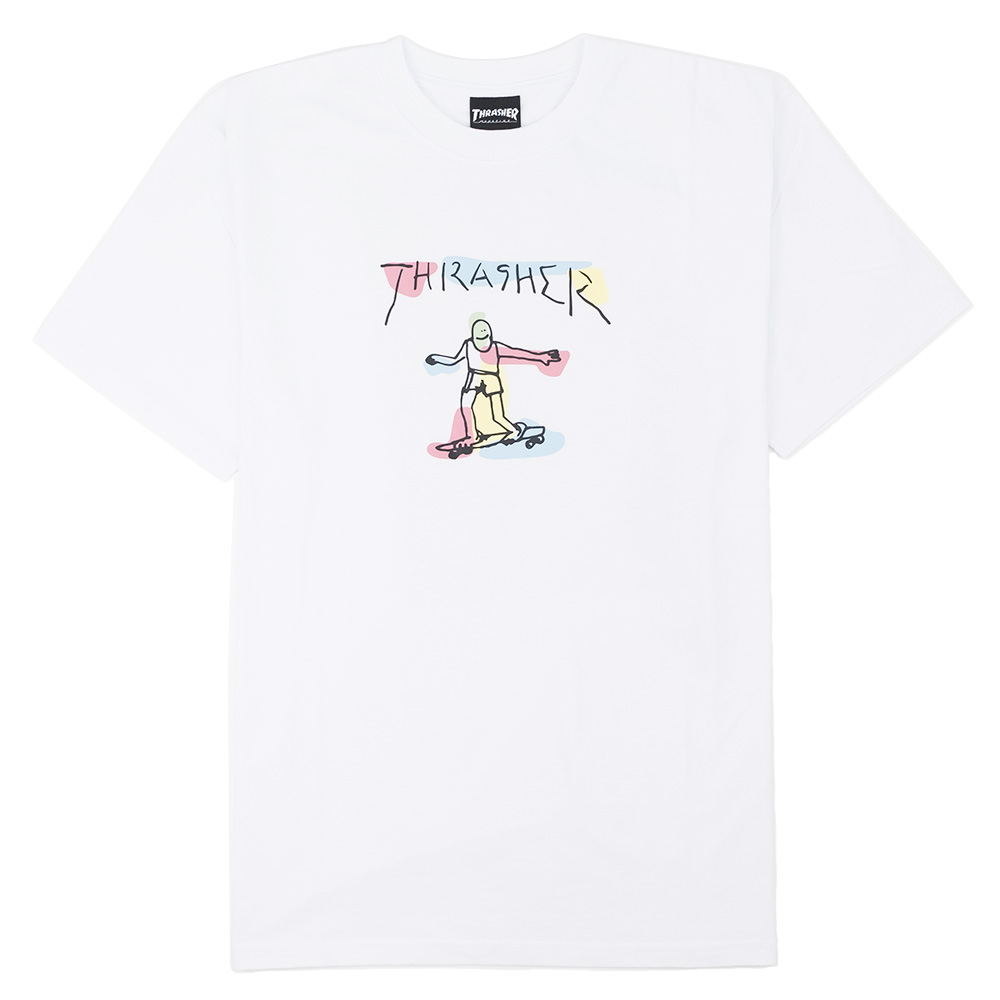 Thrasher (Japan) Gonz Watercolor S/S T-Shirt - White
