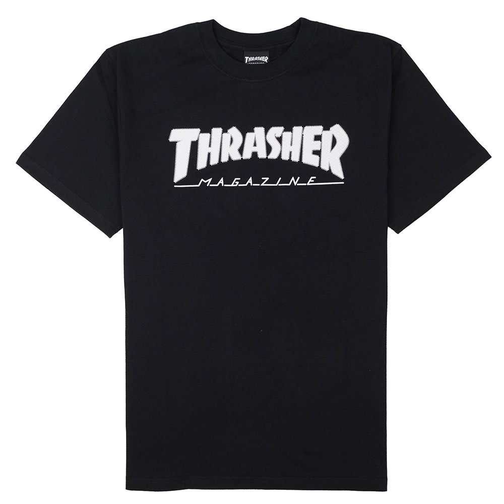 Thrasher (Japan) Hometown Ribbon S/S T-Shirt - Black