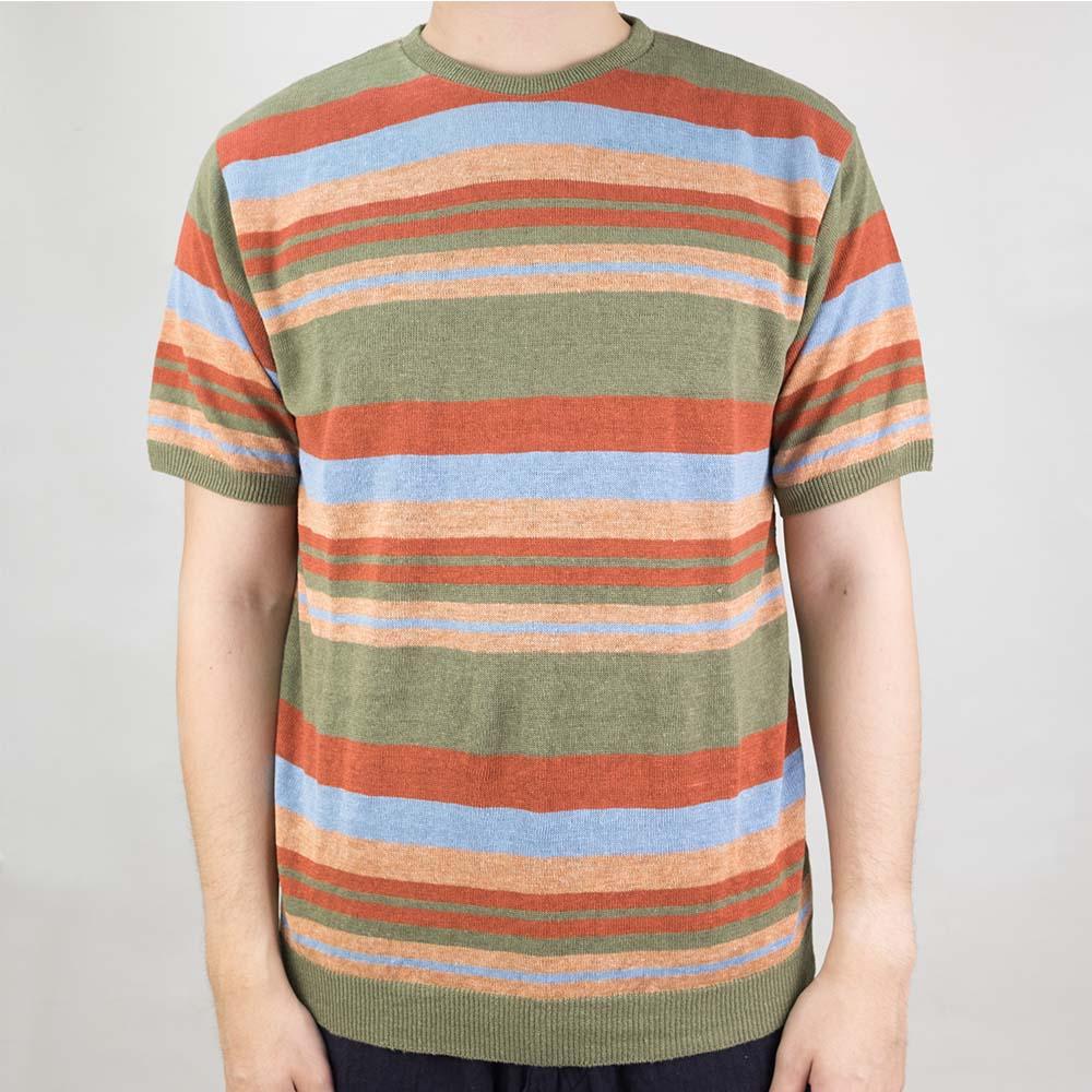 Stevenson Overall Co Classic Bordered Linen Knit Shirt