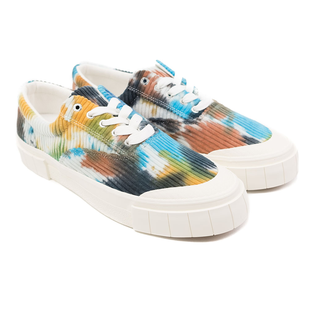 Good News Opal Tie Dye Corduroy Sneaker - Navy / Brown