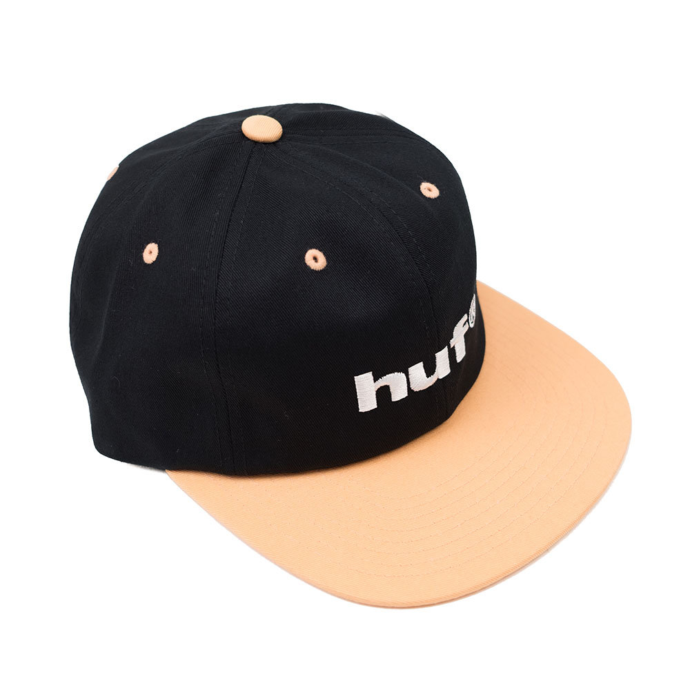HUF 98 Logo 6 Panel Hat - Black