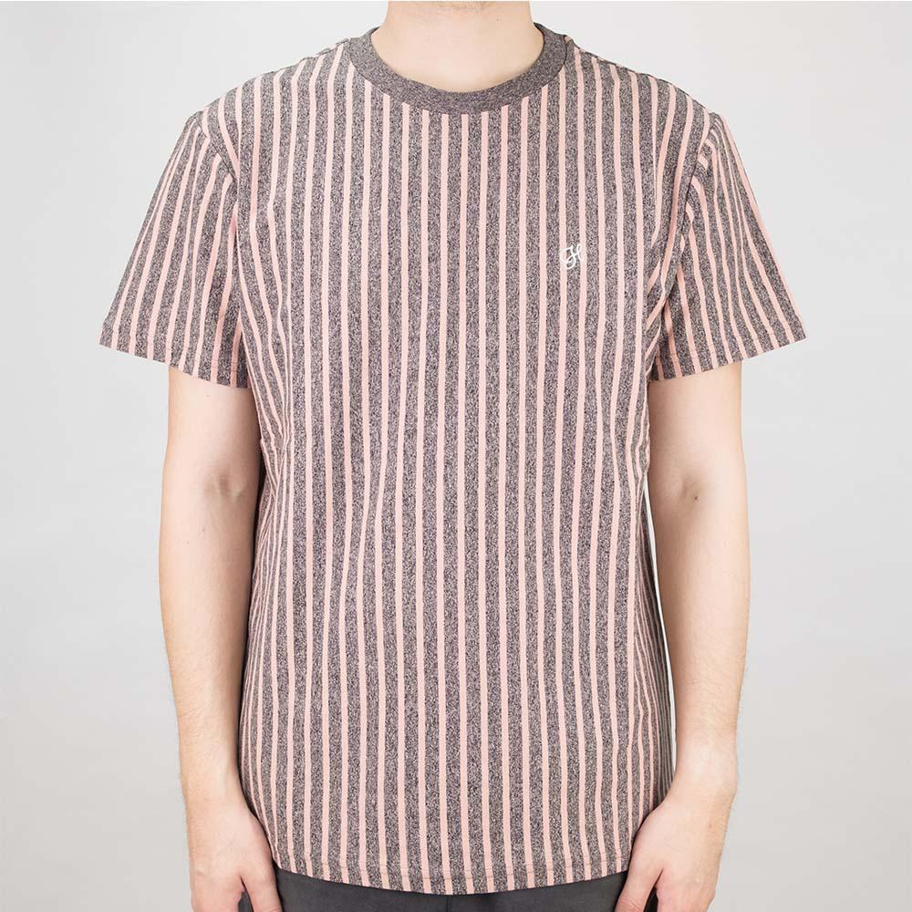 HUF Overdyed Vert Stripe Shirt - Coral Pink